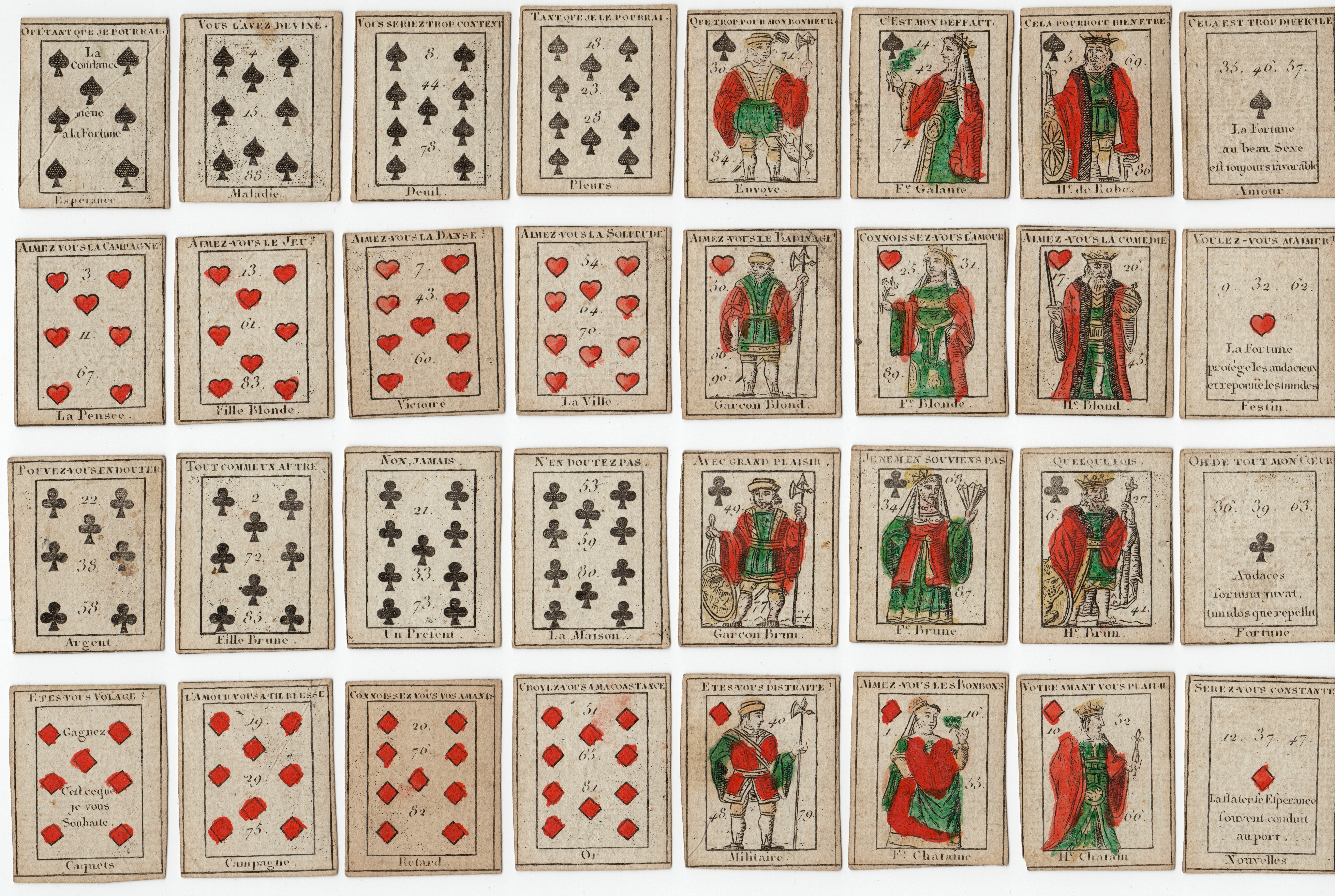 Origins of cartomancy playing card divination mary k greers 32 card petit etteilla deck buycottarizona Images