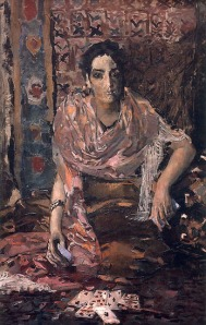 """Fortune Teller"" (1895) by Mikhail Vrubel"