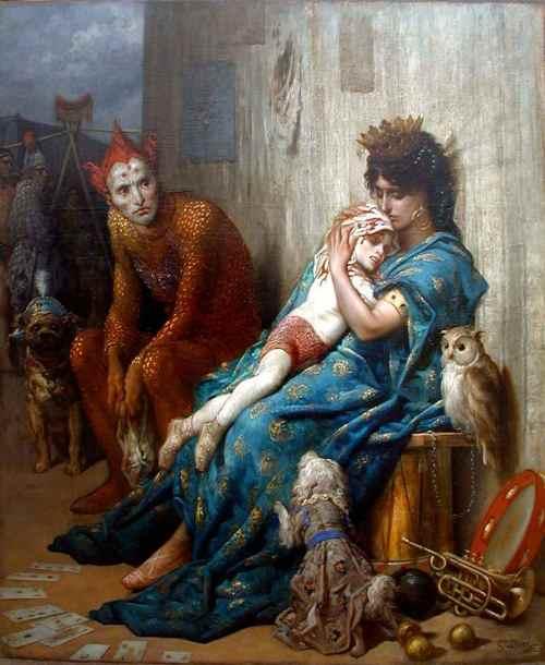 Gustave Doré - Les Saltimbanques (Entertainers), 1874