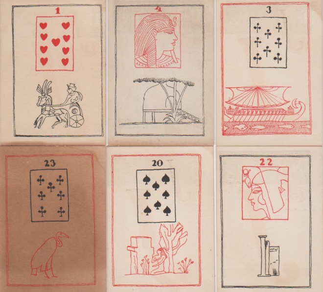 Dr Jayne's Egyptian Cards c1940