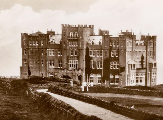 castle-hotel old postcard